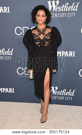 LOS ANGELES - JAN 28:  Nathalie Emmanuel arrives for the Costume Designers Guild Awards on January 28, 2020 in Beverly Hills, CA
