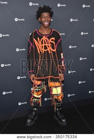 LOS ANGELES - JAN 23:  Lil Nas X arrives for the Spotify Best New Artist 2020 Party on January 23, 2020 in Los Angeles, CA