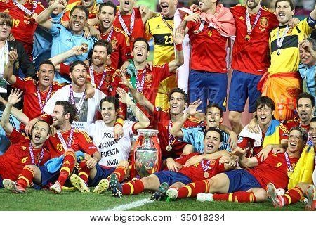 Spain - the winner of UEFA EURO 2012