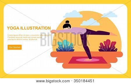 Pregnancy Prenatal Yoga Practice Workout Concept Illustration