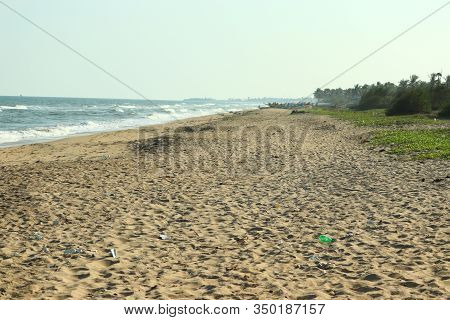 Brilliant Shot Of Beach Or Sea, Close Up Of Sand And Beach, Sky And Sea Images, Beach And Sea Backgr