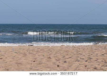 Brilliant Shot Of Beach Or Sea, Sky And Beach, Beaches Of India, Landscape Of Beach, Sand And Beache