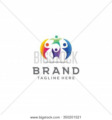 People Group Logo . People Community Logo .group Logo Colorful Design Template Vector . Teamwork Log