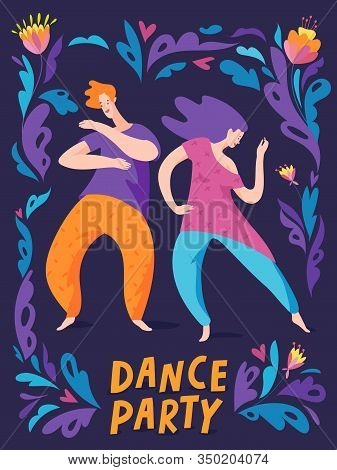 Poster For Dance Party In Spontaneous Style