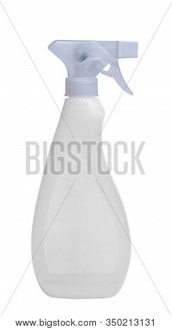 White Plastic Spray Bottle On Isolated Background