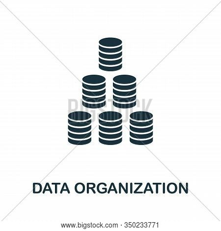 Data Organization Icon. Simple Element From Data Organization Collection. Filled Data Organization I