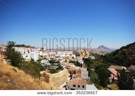Antequera, Spain - August 08, 2008 - View Of Lower Parts Of The Town Including The Town Wall With Th
