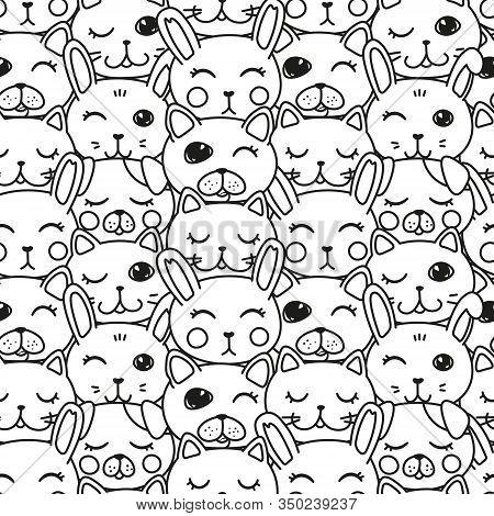 Kawaii Doodle Pets Vector Photo Free Trial Bigstock