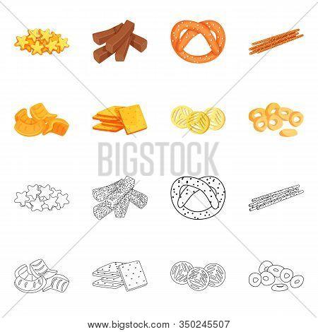 Vector Design Of Oktoberfest And Bar Sign. Collection Of Oktoberfest And Cooking Vector Icon For Sto