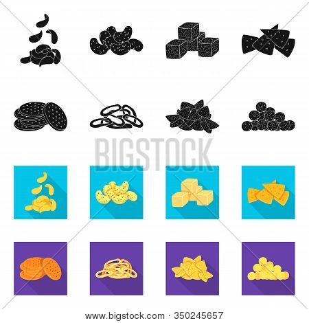 Vector Design Of Oktoberfest And Bar Logo. Set Of Oktoberfest And Cooking Stock Symbol For Web.