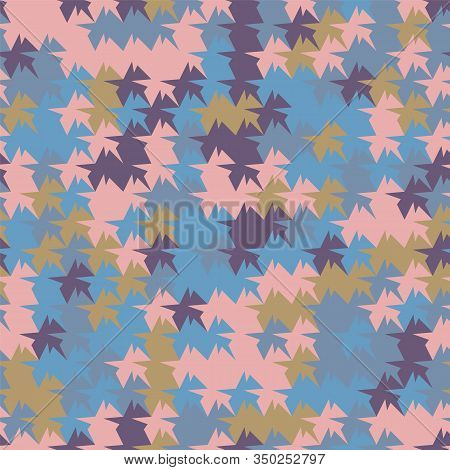 An Abstract Geometric Tessellation Seamless Vector Pattern With Identicaly Shaped Colorful Polygons.