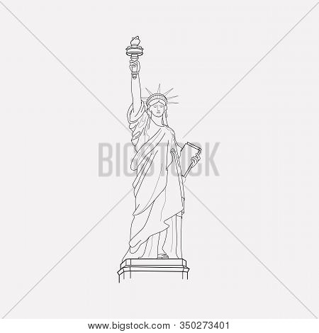 Statue Of Liberty Icon Line Element. Vector Illustration Of Statue Of Liberty Icon Line Isolated On