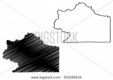 Clear Creek County, Colorado (u.s. County, United States Of America,usa, U.s., Us) Map Vector Illust