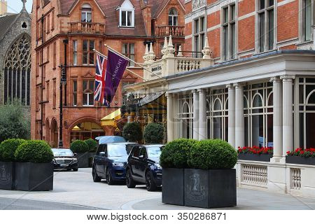 London, Uk - July 15, 2019: Connaught Hotel Five Star Luxury Hotel In Mayfair District, London. Ther