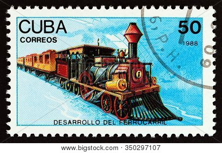 Cuba - Circa 1988: A Stamp Printed In Cuba From The