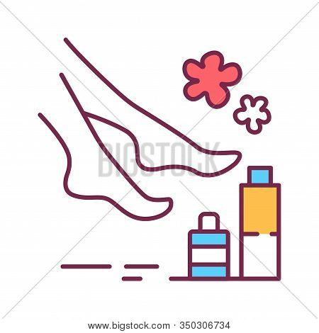 Spa Foot Treatments Color Line Icon. Cleanse, Exfoliate, And Hydrate The Skin On Foot. Pictogram For