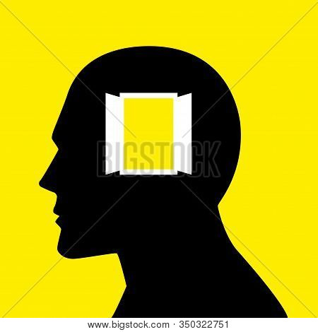 Mind Concept Graphic, Open Window Symbolizes Freedom, A Passage To And From An Enclosed Space Into T