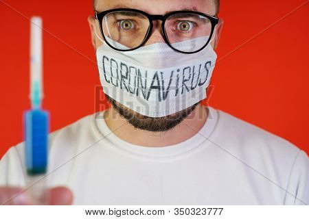 Researcher, Laboratory Technician With Glasses Found A Cure For Coronavirus. The Cure For The Virus.