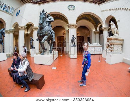 Moscow, Russia - Jan 14, 2020: Italian Hall Of Pushkin State Museum Of Fine Arts On Jan 14, 2020 In