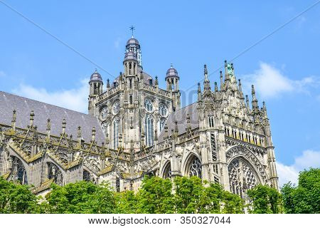 St. Johns Cathedral In Hertogenbosch, North Brabant, Netherlands. Dutch Gothic Architecture, The Lar