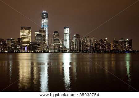 The Freedom Tower under construction