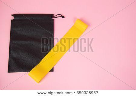 Sports Yellow Elastic Band . Sports Equipment, Sports At Home, Article About Sports, Equipment For H