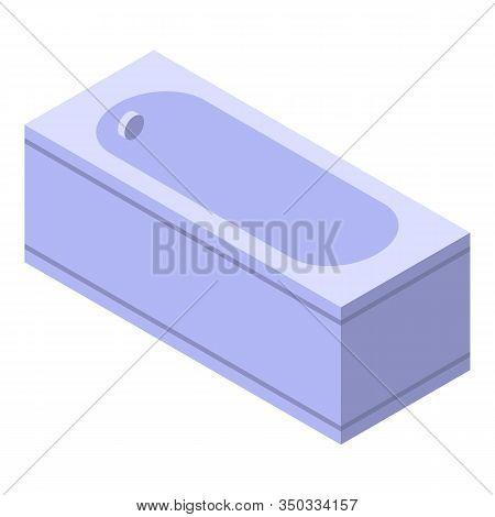 Ceramic Bathtub Icon. Isometric Of Ceramic Bathtub Vector Icon For Web Design Isolated On White Back