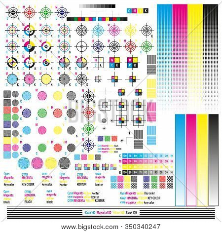 Cmyk Color Management Elements. Publishing Graphic Symbol Utilities. Press Mark. Calibration, Cuttin
