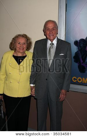 LOS ANGELES - FEB 17:  AC Lyles & Wife arrives at the Opening of
