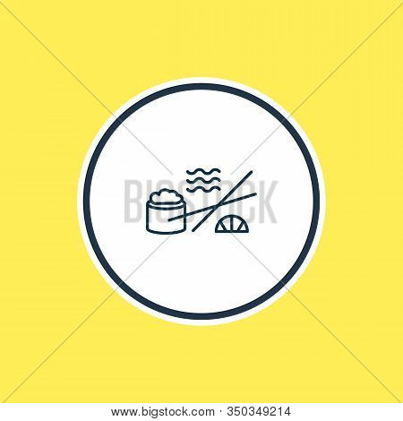 Vector Illustration Of Sushi Icon Line. Beautiful Naval Element Also Can Be Used As Japanese Roll Ic