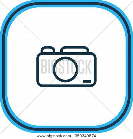 Vector Illustration Of Photo Camera Icon Line. Beautiful Party Element Also Can Be Used As Capture I