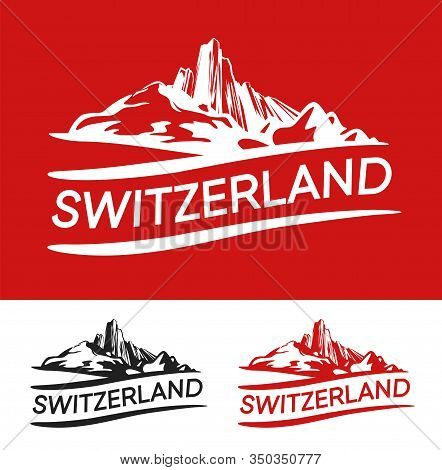 Switzerland Blazon White, Red And Black Color