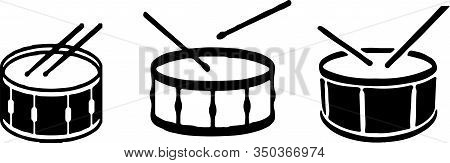 Drum Icon Isolated On Background  Percussion, Play, Pop, Rhythm