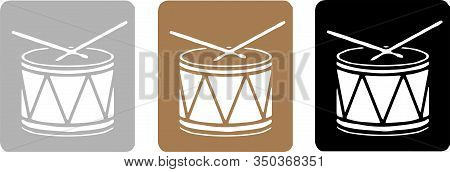 Drum Icon Isolated On Background , Percussion, Play, Pop, Rhythm