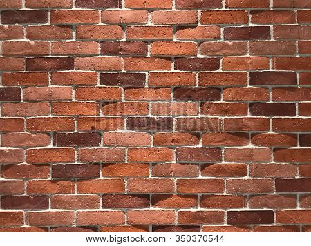 Pattern Of Mansory Orange Brick Wall For Background And Texture