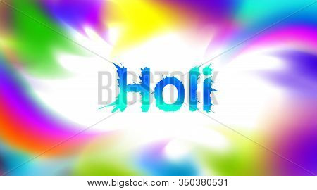 Abstract Colorful Explosion Powder Holi Festival Background For Copy Space For Text. Color Festival