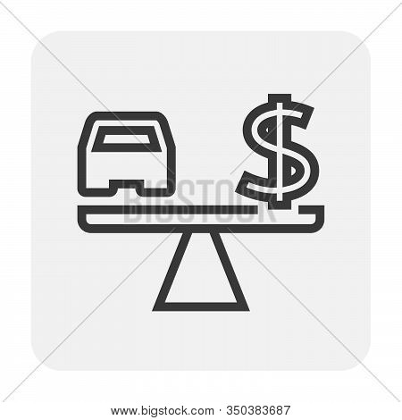 Used Car And Dealership Icon For Used Car Business Graphic Design Element, Editable Stroke.