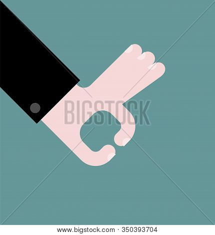 Grabbing Hand Isolated. Choosing Concept Template. Vector Illustration