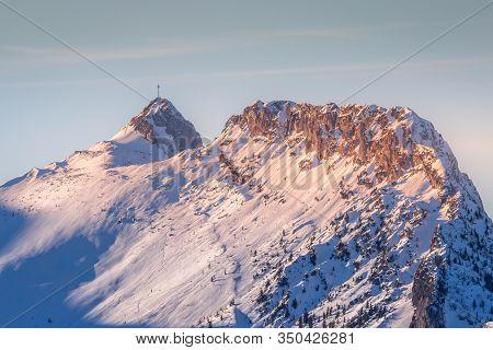 Winter View To Giewont In Tatra Mountains In Zakopane,poland