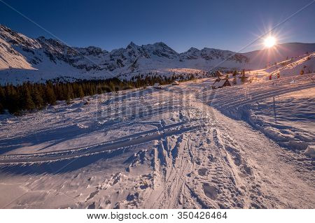 Winter Landscape Of Hala Gasienicowa(valey Gasienicowa) In Tatra Mountains In Zakopane,poland