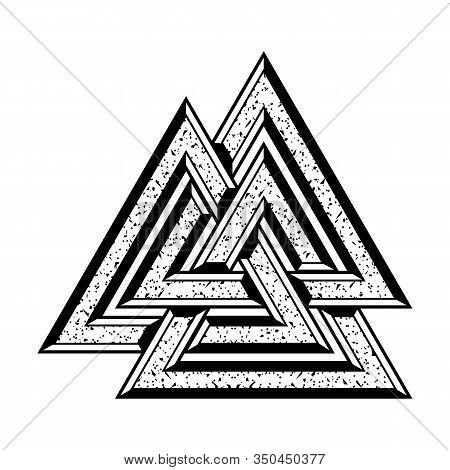 Three Crossed Triangles. Sacred Symbol Of Vikings. Ancient Sign Of Eternal Life. Scandinavian Grange