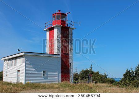 Point Prim Lighthouse Near Digby, Nova Scotia Circa 2012.