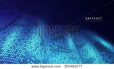 Abstract Data Analysis Technology System Vector Background,futuristic Data Flow Cyberspace Backgroun