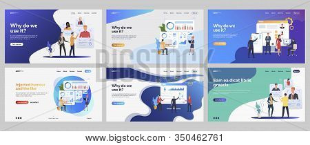 Recruit Agency Set. Recruiters Analyzing Candidates Profiles, Charts, Checklists. Flat Vector Illust