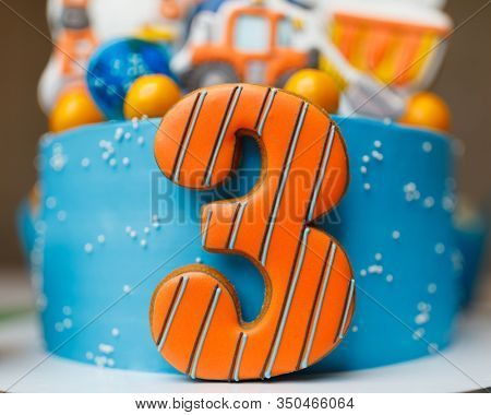 number three years on the cake