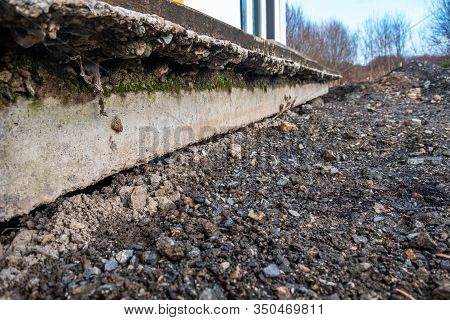Subsidence Under A House Caused By A Broken Water Service Pipe