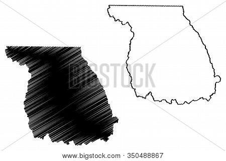 Jackson County, Colorado (u.s. County, United States Of America,usa, U.s., Us) Map Vector Illustrati