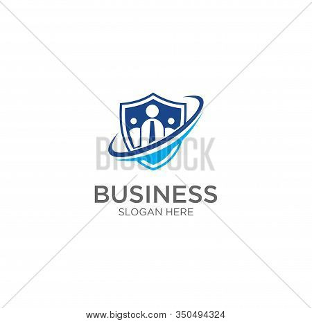 Group Shield Logo Template Design Vector, Emblem. Design .people Shield Logo Design . Community Shie