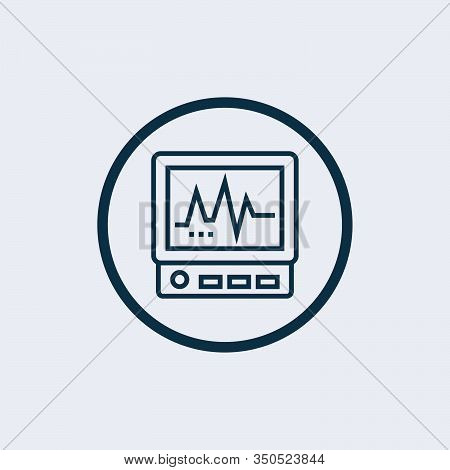 Heart Beat Icon Vector, Illustration Of A Normal Ekg Heart Beat, Heart Shape With Cardiogram Waves,