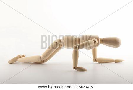 Falling Mannequin